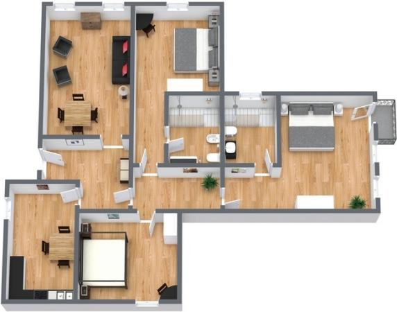 Planimétrie Appartement N.100