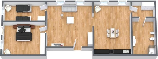 Planimétrie Appartement N.127