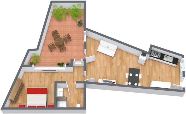 Planimétrie Appartement N.134
