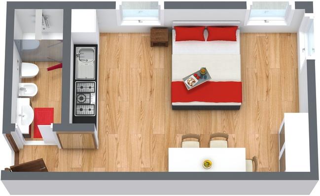 Planimétrie Appartement N.136