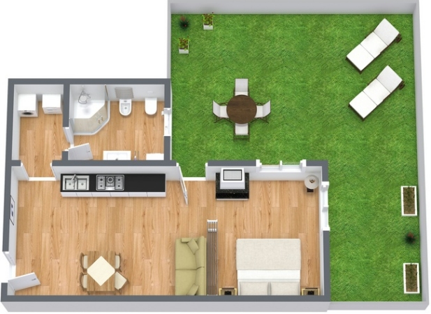 Planimétrie Appartement N.76