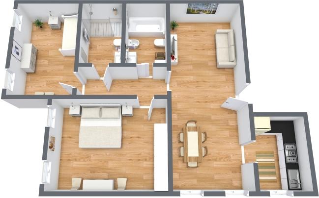Planimétrie Appartement N.158