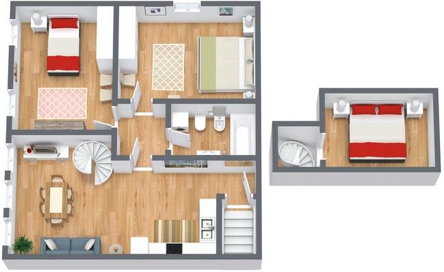 Planimétrie Appartement N.165
