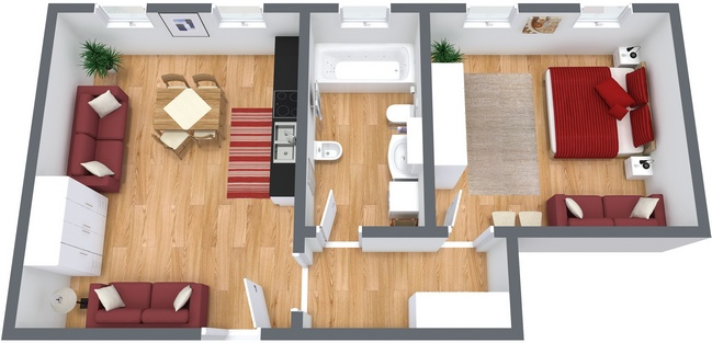 Planimétrie Appartement N.17