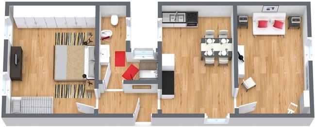 Planimétrie Appartement N.175