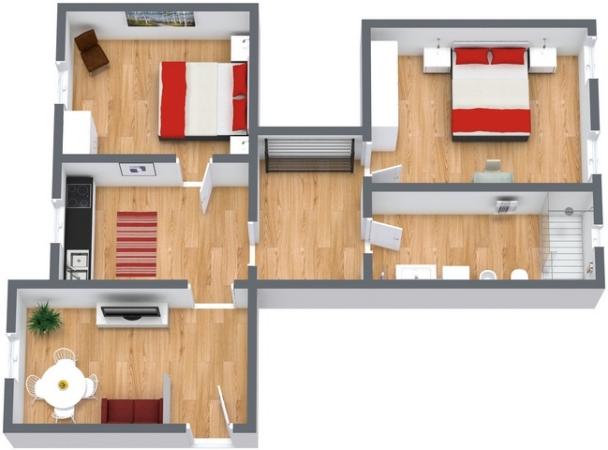 Planimétrie Appartement N.196