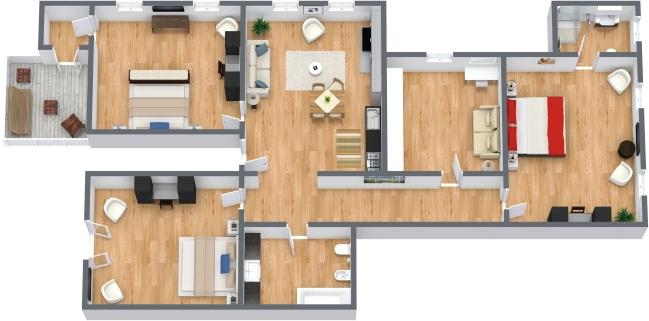 Planimétrie Appartement N.198