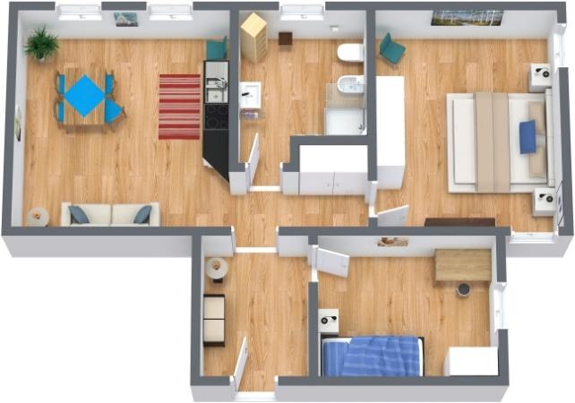 Planimétrie Appartement N.200