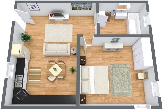 Planimétrie Appartement N.208