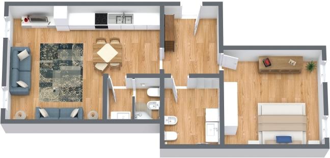 Planimétrie Appartement N.222