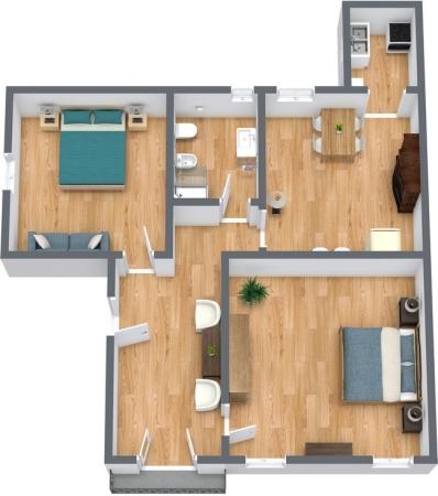 Planimétrie Appartement N.243