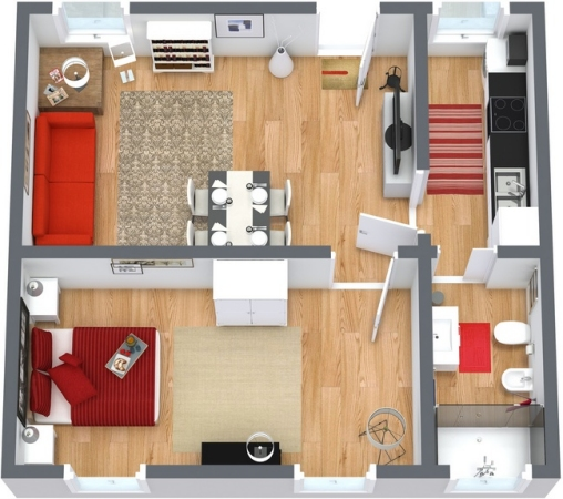Planimétrie Appartement N.251