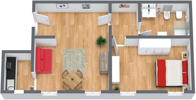 Planimétrie Appartement N.81