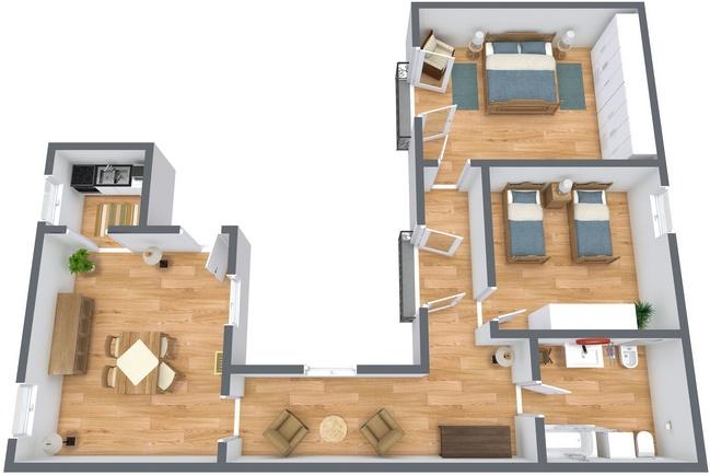 Planimétrie Appartement N.269