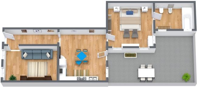 Planimétrie Appartement N.274