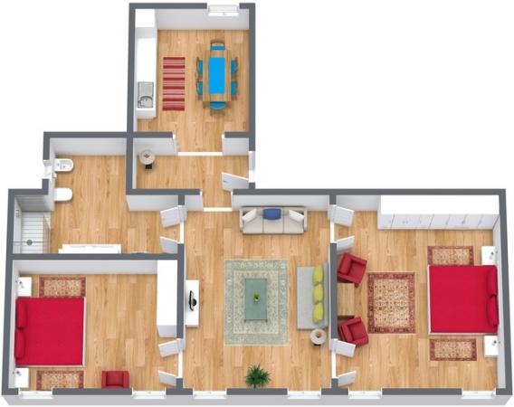 Planimétrie Appartement N.275