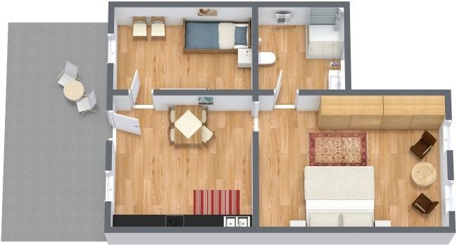 Planimétrie Appartement N.276
