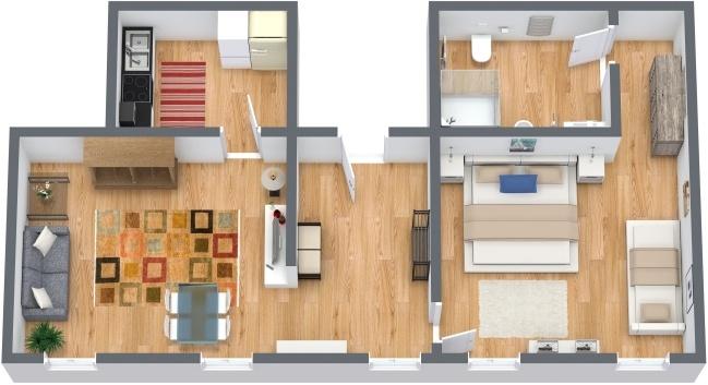 Planimétrie Appartement N.284