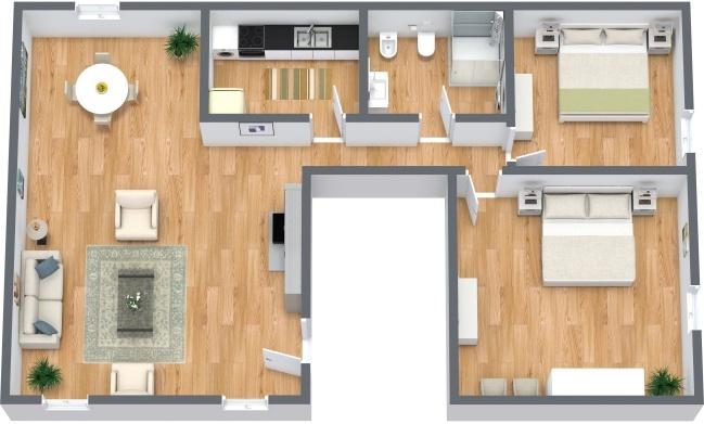 Planimétrie Appartement N.287