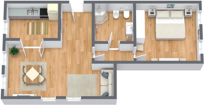 Planimétrie Appartement N.302