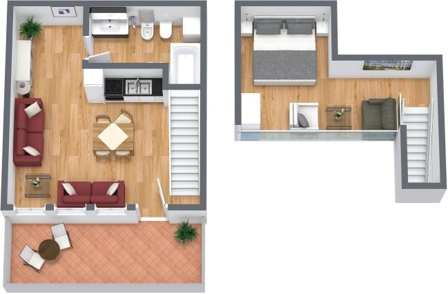 Planimétrie Appartement N.313