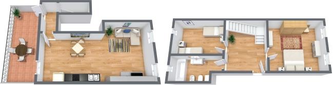 Planimétrie Appartement N.321