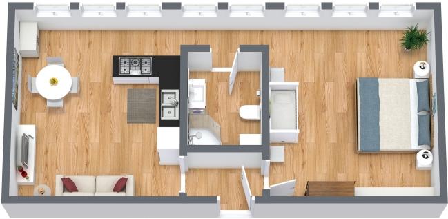 Planimétrie Appartement N.329