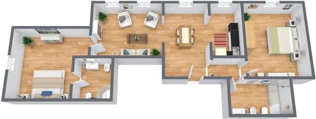 Planimétrie Appartement N.335