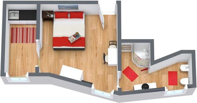 location appartement studio venise louer appartement. Black Bedroom Furniture Sets. Home Design Ideas
