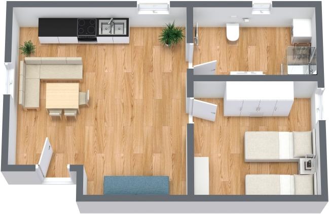 Planimétrie Appartement N.351