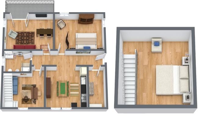 Planimétrie Appartement N.358