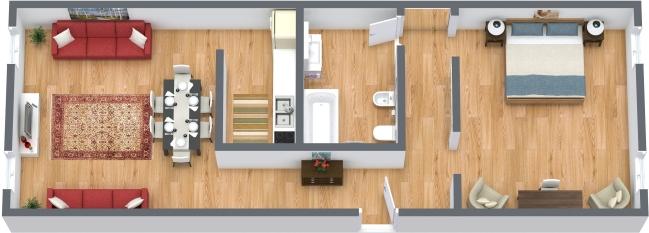 Planimétrie Appartement N.362
