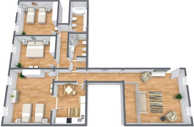 Planimétrie Appartement N.363