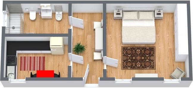 Planimétrie Appartement N.368