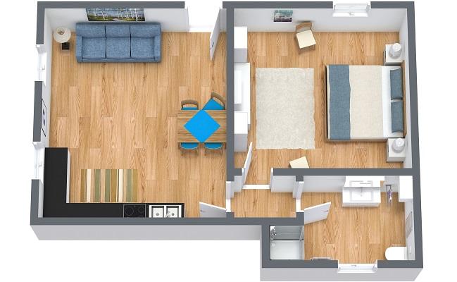 Planimétrie Appartement N.371
