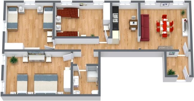 Planimétrie Appartement N.372