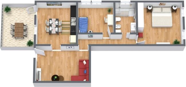 Planimétrie Appartement N.373