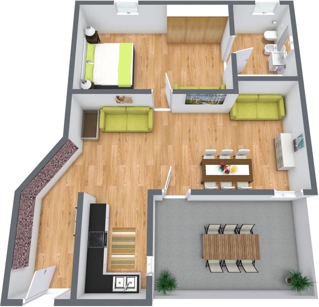 Planimétrie Appartement N.383
