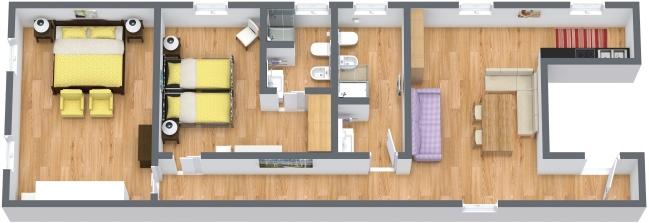 Planimétrie Appartement N.384