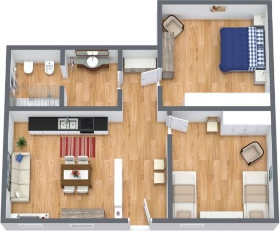 Planimétrie Appartement N.388
