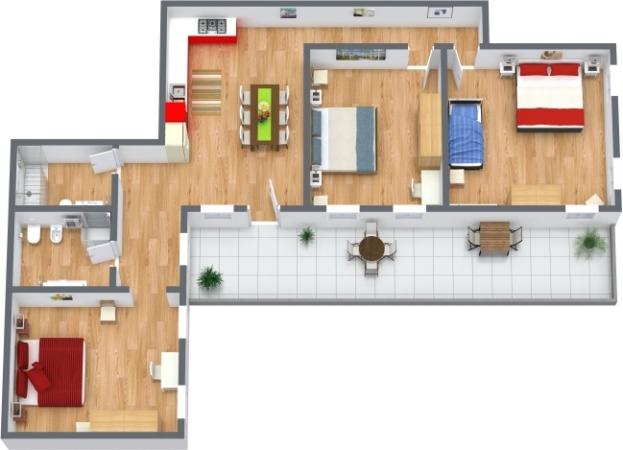 Planimétrie Appartement N.398