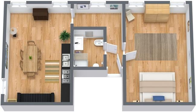 Planimétrie Appartement N.52