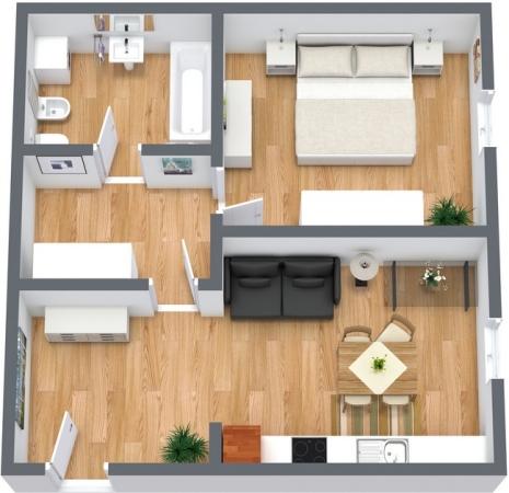 Planimétrie Appartement N.55