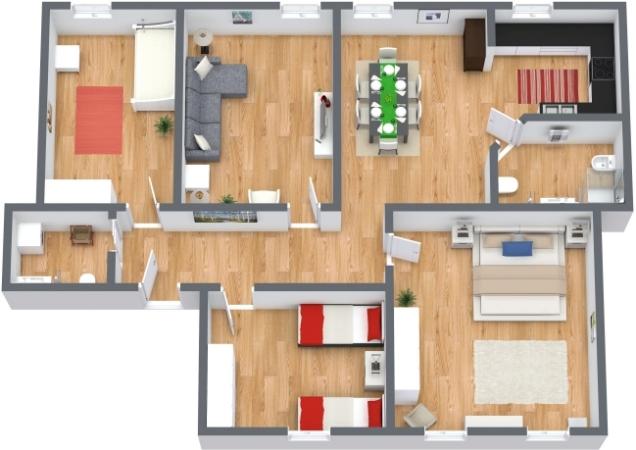 Planimétrie Appartement N.73
