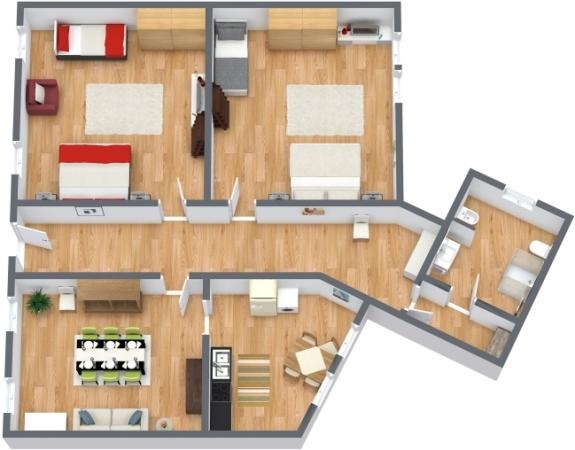 Planimétrie Appartement N.90