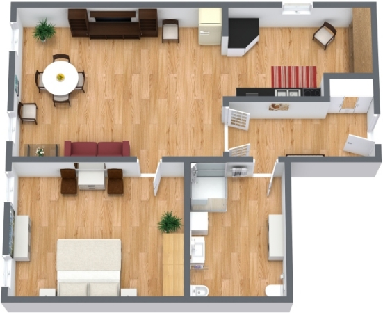 Planimétrie Appartement N.77