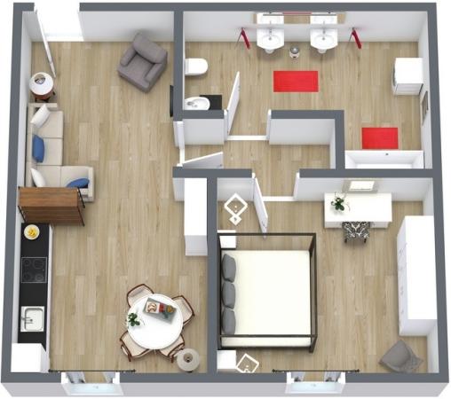 Planimétrie Appartement N.104