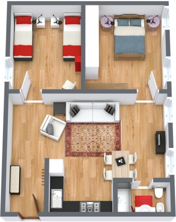 Planimétrie Appartement N.112