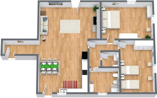 Planimétrie Appartement N.157