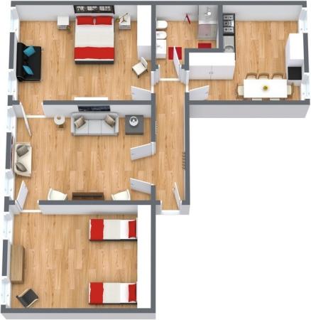 Planimétrie Appartement N.161
